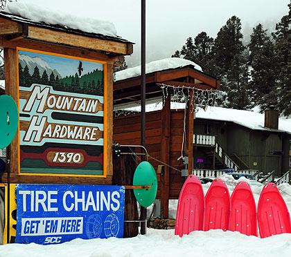 snow play toys, sleds, discs