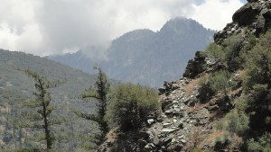 Iron Mountain as seen from the East Fork of the San Gabriel River, just downstream from Mine Gulch campsite.